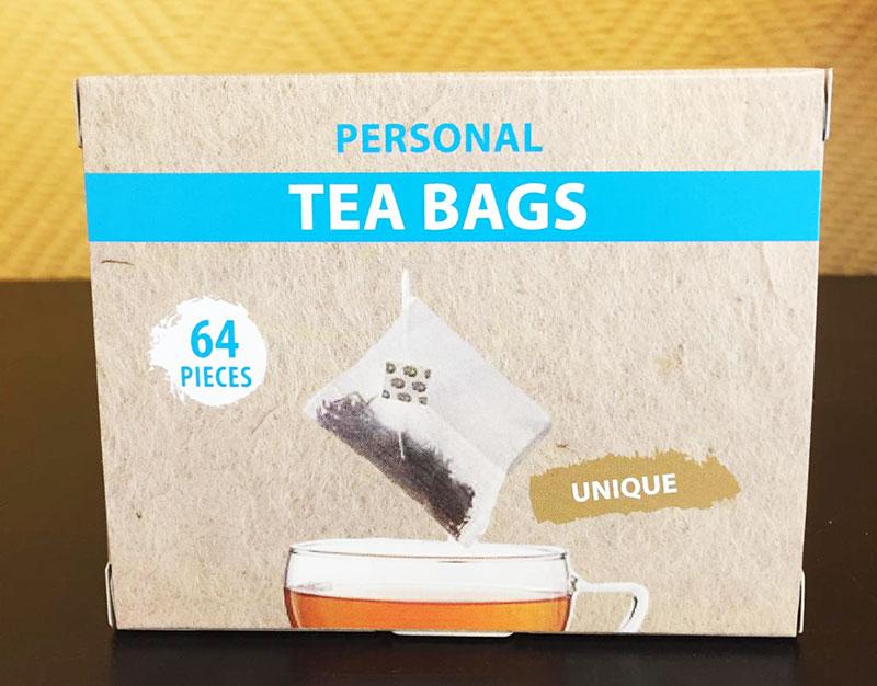Sachets de thé vide